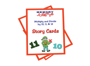 Multiply & Divide By 10, 11, 12: Story Cards [17 cards]