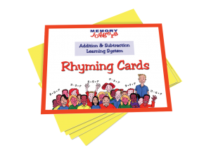 Addition & Subtraction: Rhyming Cards [MJ330 : 36 cards]