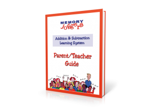 Addition & Subtraction: Parent/Teacher Guide