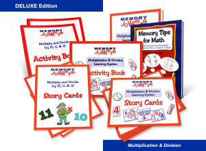 Multiplication & Division: DELUXE Edition [MJ210 : 7 items]