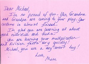 Sample Parent Letter in Take-Home Journal